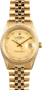 Rolex Date 15007 Yellow Gold