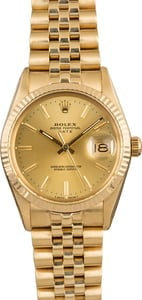 Pre-Owned Rolex Date 15007 Champagne Dial