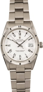 Used Rolex Steel Date 15010 White Roman Dial