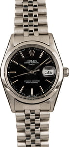 Pre-Owned Rolex Steel Date 15010 Black Dial