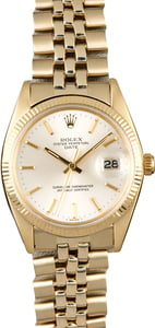 Rolex Date 1503 Yellow Gold Oval Link Band