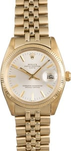 Rolex Date 1503 Yellow Gold Oval Link Bracelet