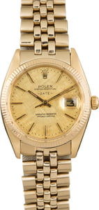 Rolex Date 1503 Champagne Linen Dial