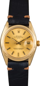 Pre-Owned Rolex Date 1503 Champagne Index Dial