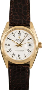 Pre-Owned Rolex Date 1503 White Roman Dial