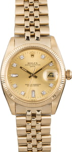 Pre Owned Rolex Date 1503 American Oval Link Bracelet