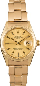 Pre Owned Rolex Date 1503 Yellow Gold Oyster Rivet