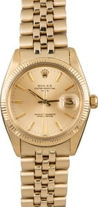 Pre-Owned Rolex Date 1503 Yellow Gold Oval Link Band