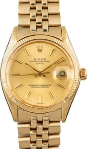 Men's Rolex Oyster Perpetual Date Yellow Gold 1503