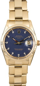 Rolex Date 15037 Blue Diamond Dial