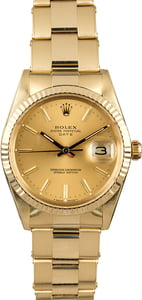 Rolex Date 15037 Yellow Gold Oyster