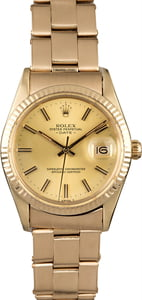 Rolex Date 15037 Yellow Gold Oyster Rivet