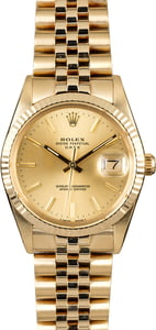 Certified Rolex Date 15037 Yellow Gold Jubilee