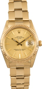 PreOwned Rolex Date 15037 Yellow Gold Oyster Rivet