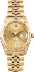 Used Rolex Date 15037 Champagne Dial