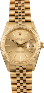 PreOwned Rolex Date 15037 Champagne Dial