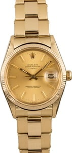 Pre-Owned Rolex Date 15037 Yellow Gold Oyster