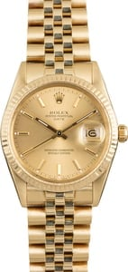 Used Rolex Date 15037 Yellow Gold Jubilee