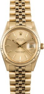 Pre Owned Rolex Date 15037 Yellow Gold Jubilee