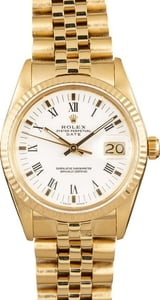 Rolex Date 15037 Yellow Gold Jubilee