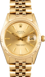 Rolex Date 15037 Yellow Gold