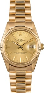 Rolex Date 15038 Yellow Gold President Bracelet