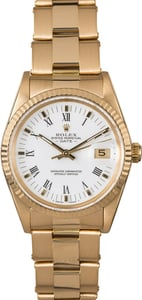Rolex Date 15038 Yellow Gold Oyster