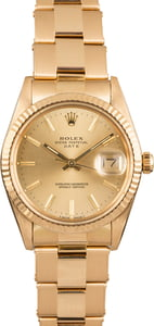 PreOwned Rolex Date 15038 Yellow Gold Oyster