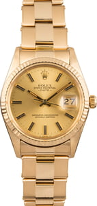 Pre Owned Rolex Date 15038 Yellow Gold Oyster