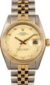 Rolex Date 1505 Champagne Dial Two Tone Jubilee