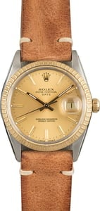 Used Rolex Date 15053 Champagne Dial