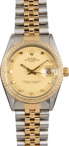 Used Rolex Date 15053 Champagne Doorstop Dial