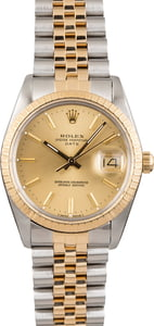 Used Rolex Date 15053 Two Tone Jubilee