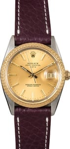 Rolex Date 15053 Leather Strap
