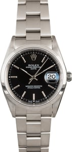 Black Dial Rolex Date 15200 Steel Oyster