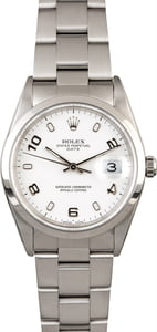 Men's Rolex Date 15200 White Arabic Dial