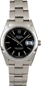 Rolex Date 15200 Steel Oyster Black Dial