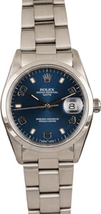 Used Rolex Date 15200 Blue Arabic Dial