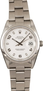 Used Rolex Date 15200 White Arabic Dial