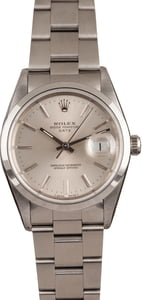 Pre-Owned 34MM Rolex Date 15200 Silver Dial