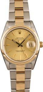 Pre Owned Rolex Date 15203 Champagne Index Dial