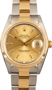 Rolex Date 15203 Two-Tone 100% Authentic