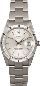 Rolex Date 15210 Silver Dial Steel Oyster