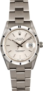 PreOwned Rolex Date 15210 Silver Dial