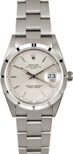 Rolex Date 15210 Silver Dial with Steel Oyster