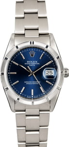 Rolex Date 15210 Blue Dial Steel Oyster