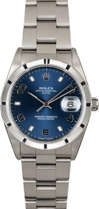 PreOwned Rolex Date 15210 Blue Arabic Dial