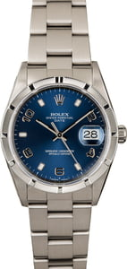 PreOwned Rolex Date 15210 Blue Dial