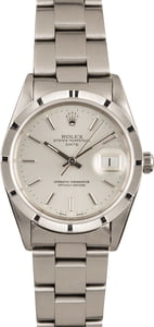 Used Rolex Date 15210 Silver Dial