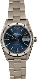 Pre Owned Rolex Date 15210 Blue Index Dial T